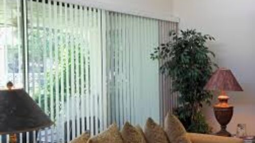 Window Blinds -Vertical White Finish Rooms Offices3